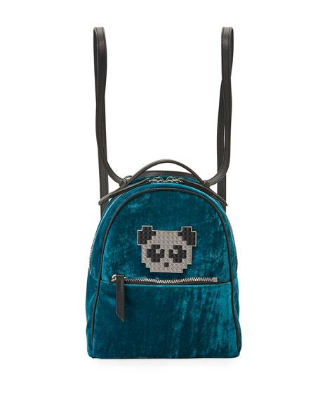 Les Petits Joueurs Back Mick Metal Panda Backpack,