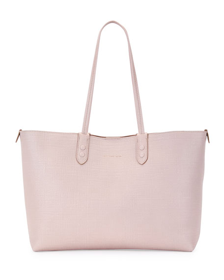 Alexander McQueen Lino Small Embossed Leather Tote Bag,