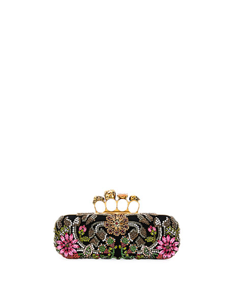 Medieval Knuckle Box Clutch Bag, Black