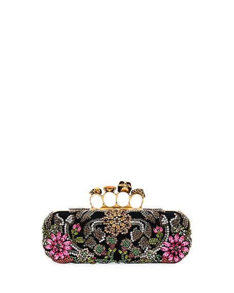 Alexander McQueen Medieval Knuckle Box Clutch Bag, Black