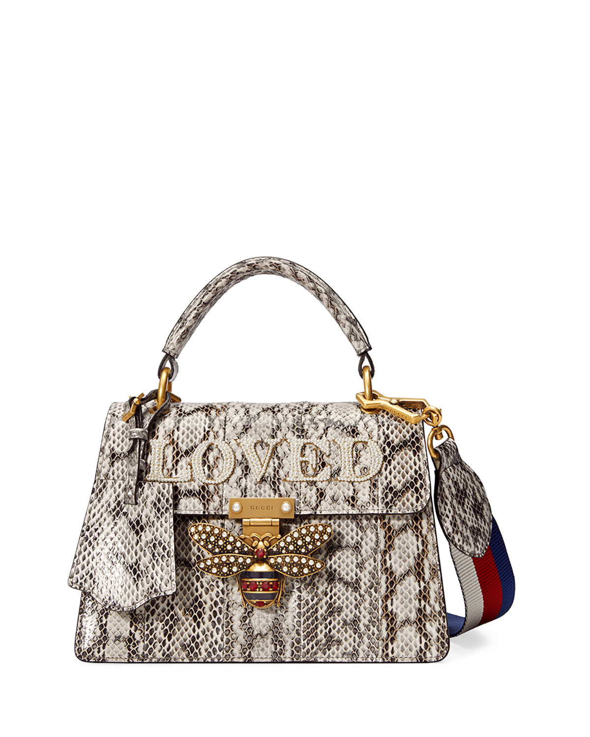 528ff252354 Gucci Queen Margaret Small Snakeskin Top-Handle Bag