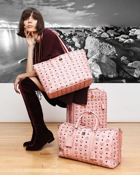 Voyager Visetos Travel Trolley/Rolling Carryon Suitcase, Pink