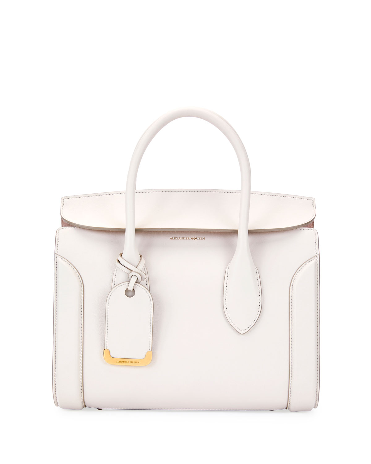560508240ac0 Alexander McQueen Heroine 30 Small Sweet Calf Leather Tote Bag, Off White