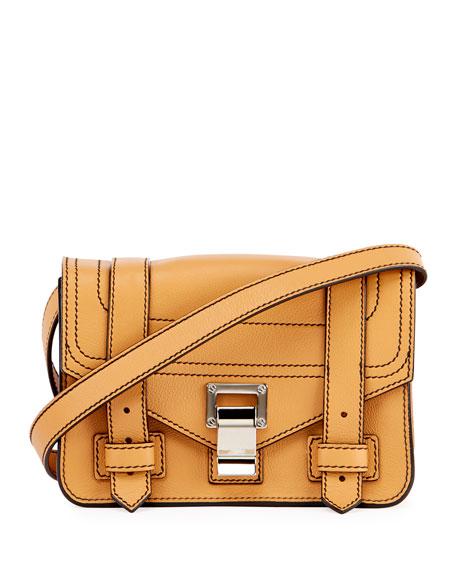 Proenza Schouler PS1 Mini Leather Crossbody Bag, Beige