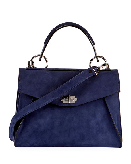 Proenza Schouler Hava Medium Top-Handle Satchel Bag, Blue