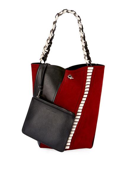 Proenza Schouler Medium Hex Whipstitch Bucket Bag, Red