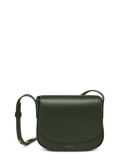 Mansur Gavriel Mini Flap Leather Crossbody Bag
