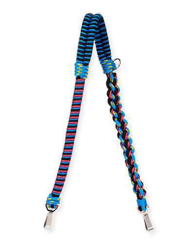 Braided Cord Shoulder Strap, Blue