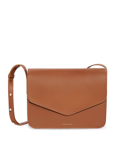 Mansur Gavriel Calf Leather Envelope Crossbody Bag, Brown