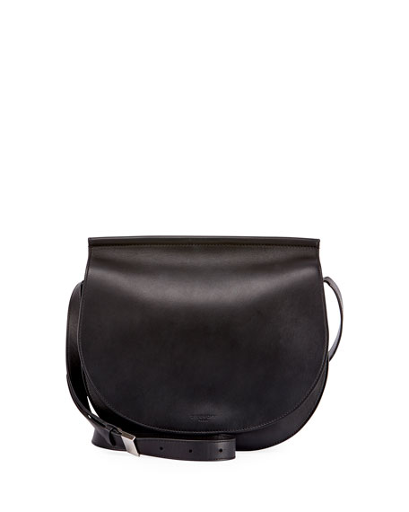 Givenchy Infinity Chain-Trim Saddle Bag, Black