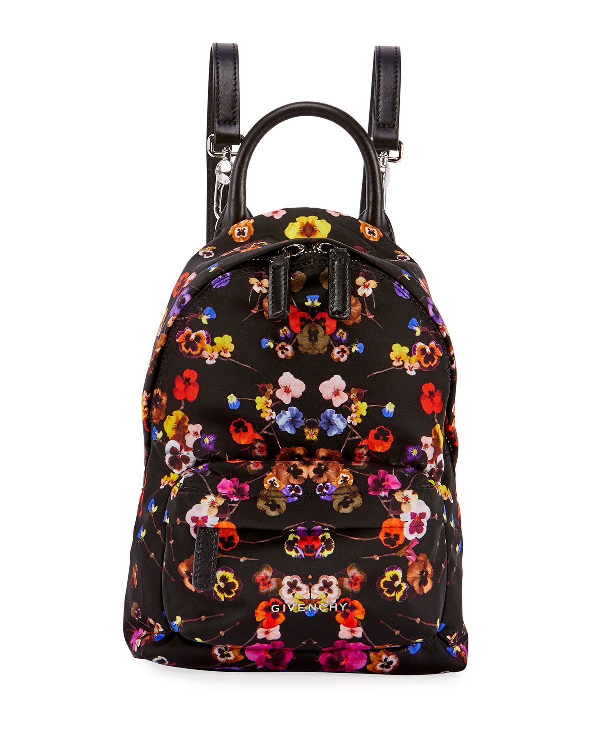 bf30f12a5fb Givenchy Nano Pansies Floral-Print Backpack, Multi   Neiman Marcus