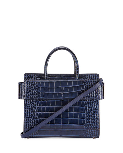 Horizon Mini Alligator Tote Bag  Dark Blue