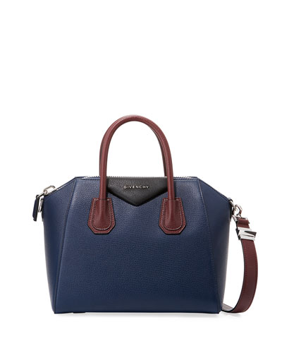 Antigona Small Sugar Colorblock Satchel Bag