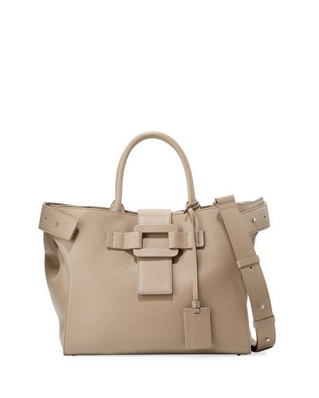 Cabas Pilgrim de Jour Medium Calf Leather Satchel Bag