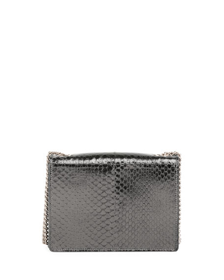 Pilgrim Micro Snakeskin Shoulder Bag, Gray