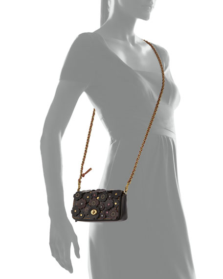 Dinkier Tea Rose Crossbody Bag, Black/Multi