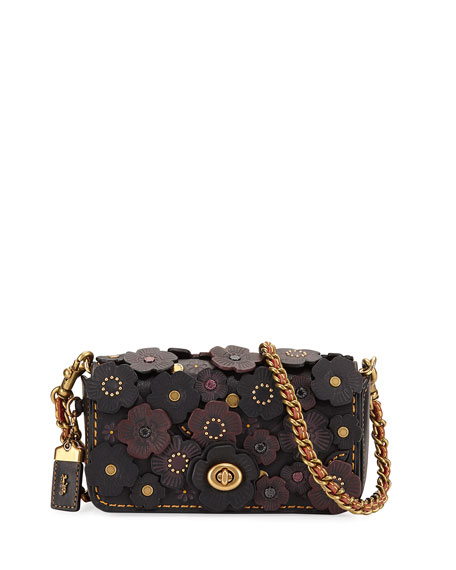 Coach 1941 Dinkier Tea Rose Crossbody Bag, Black/Multi
