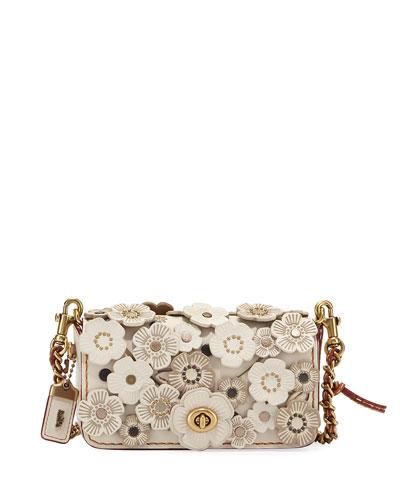 Dinkier Tea Rose Crossbody Bag, White/Multi