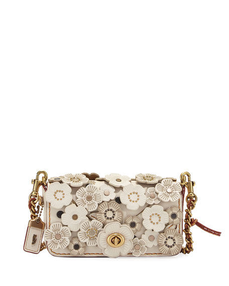 Dinkier Tea Rose Crossbody Bag, White/Multi