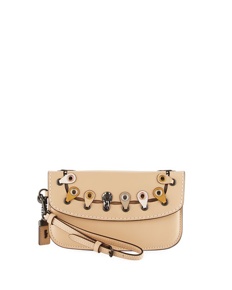Exotic Linked Leather Clutch Bag