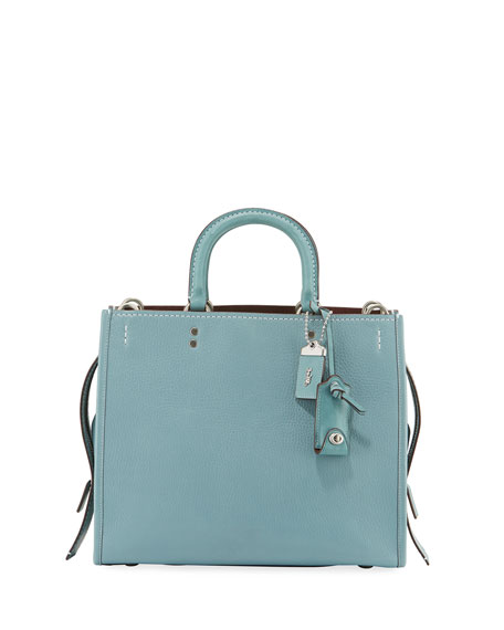 Coach 1941 Rogue Glove-Tanned Pebbled Bag, Blue