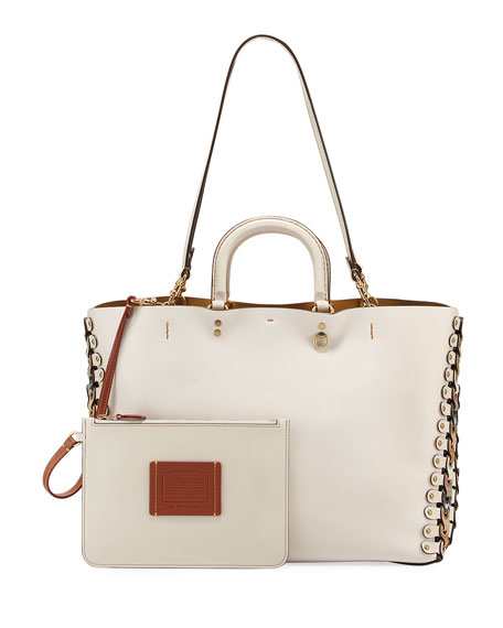 Rogue Colorblock Linked Tote Bag, White