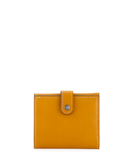 Coach 1941 Smooth Trifold Snap Wallet, Gold