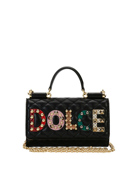 Dolce & Gabbana Miss Sicily Crossbody iPhone Wallet/Case,