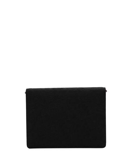 Lucia Embellished Velvet Shoulder Bag
