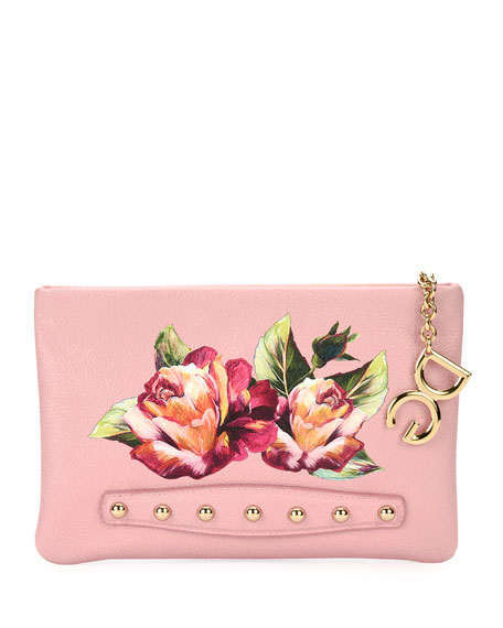 Dolce & Gabbana Cleo Floral Pochette Clutch Bag