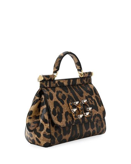 Sicily Mini Shoulder Bag, Leopard
