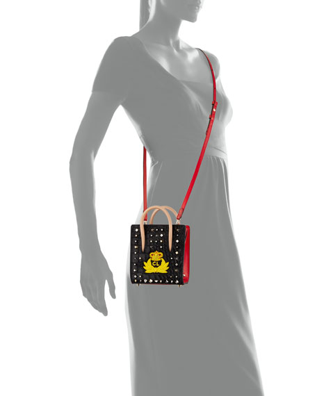 Paloma Nano Calf Hair Tote Bag with Crest