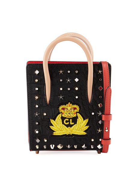 Christian Louboutin Paloma Nano Calf Hair Tote Bag