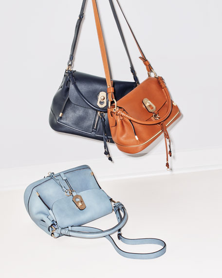 Owen Small Leather Flap-Top Bag