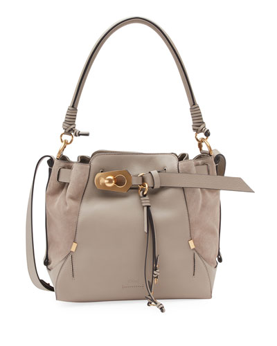 Owen Medium Leather Bucket Bag
