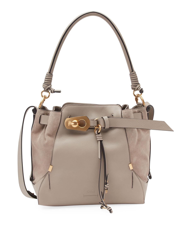 472975165843 Chloe Owen Medium Leather Bucket Bag   Neiman Marcus