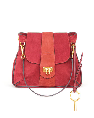 Lexa Small Suede Shoulder Bag