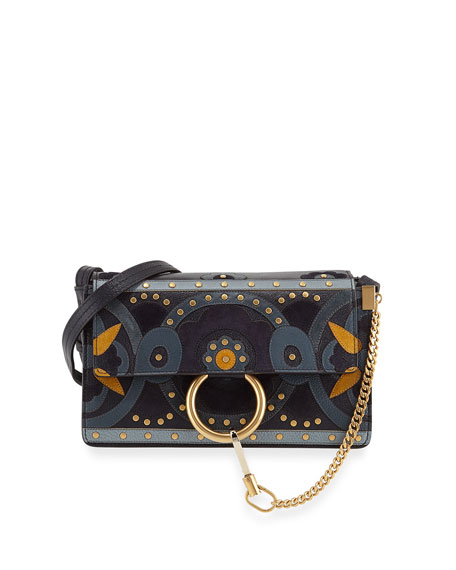 Chloe Faye Small Studded Shoulder Bag