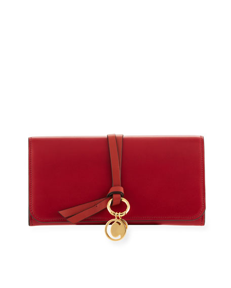 Chloe Alphabet Smooth Leather Continental Flap Wallet