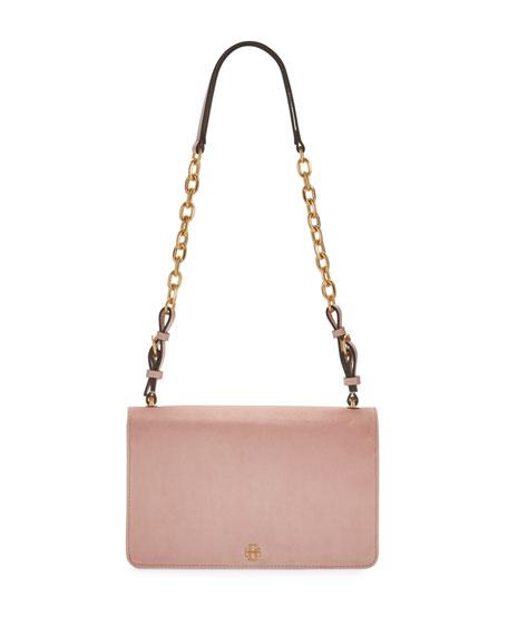 Sadie Velvet Chain Shoulder Bag
