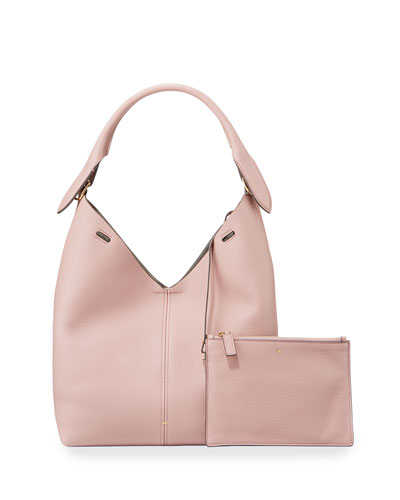 The Bucket Small Circle Hobo Bag, Blush