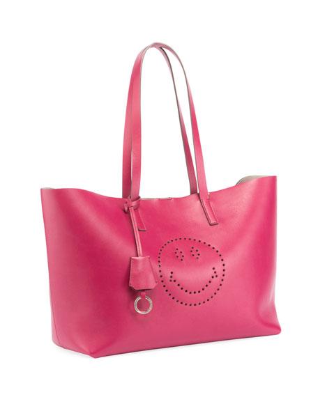 Ebury Smiley Large Shopper Bag, Fuchsia
