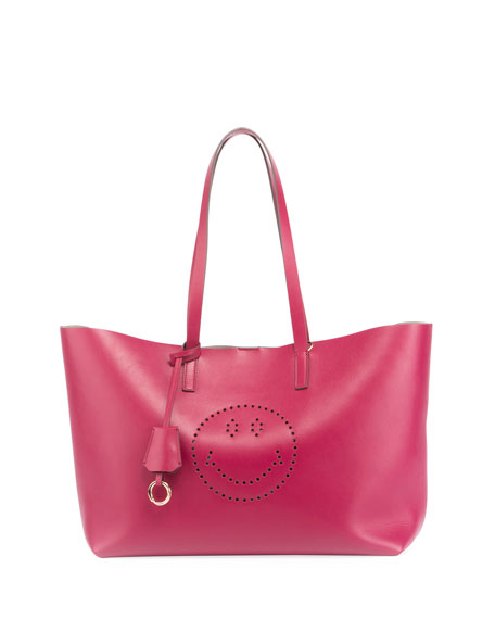Ebury Smiley Large Shopper Bag, Fuchsia