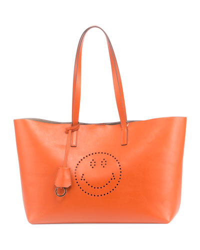 Ebury Smiley Large Shopper Bag, Orange