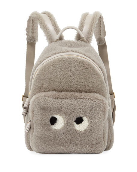 Anya Hindmarch Mini Eyes Right Shearling Backpack