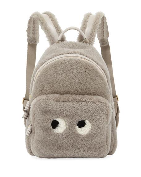 Anya Hindmarch Mini Eyes Right Shearling Backpack