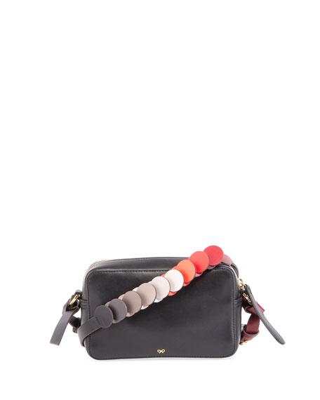 Anya Hindmarch Mini Circle Crossbody Bag, Black