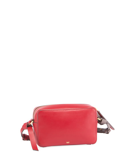 Mini Circle Crossbody Bag, Red/Multi