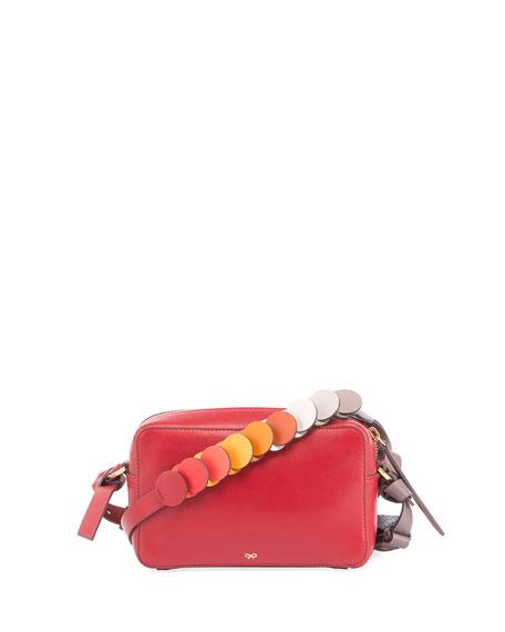 Anya Hindmarch Mini Circle Crossbody Bag, Red/Multi