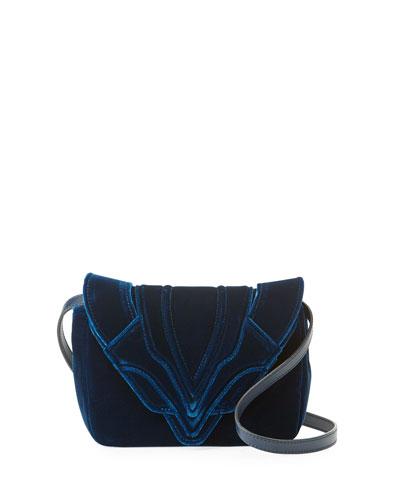 Felix Small Velvet Crossbody Bag